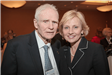 Former Gov. Brendan Byrne and Lt. Gov. Kim Guadagno chat at the League Luncheon