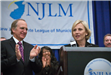 Lt. Gov Kim Guadagno addresses the League Luncheon with NJLM Executive Director Bill Dressel looks on