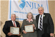Mayor William Bain and Dep. Mayor Suzanne Dapkins receive certificates of appreciation from NJLM Pre