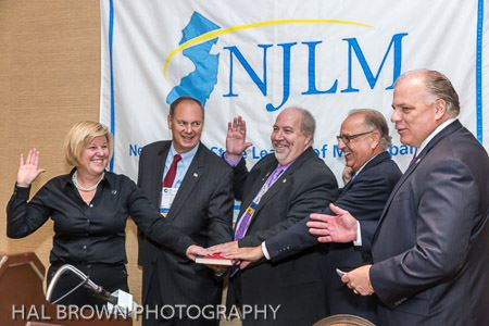 NJLM Officers Mayors Mahr, Perry, and Cassella sworn in by Mayor Tempesta and Sen. Sweeney (r)