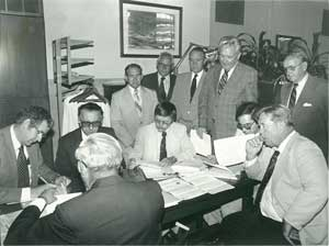 Signing the lease at 407 West State, 1979