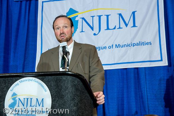 NJLM Assistant Executive Director Michael J. Darcy speaks at League event