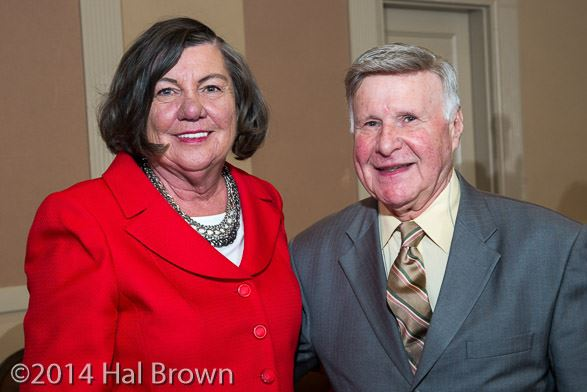 NJLM President Suzanne Walters with Gold Level Mayors' Hall of Fame Inductee Mayor James F. Young, Sr.