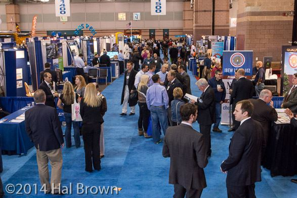 Rows of Booths at NJLM Conference