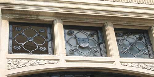 Decorative Cornice Over the Door