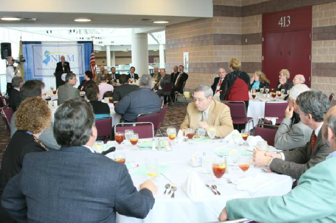 Affiliate members, mayors, and other appointed and elected officials networking at the Affiliate Presidents' Luncheon