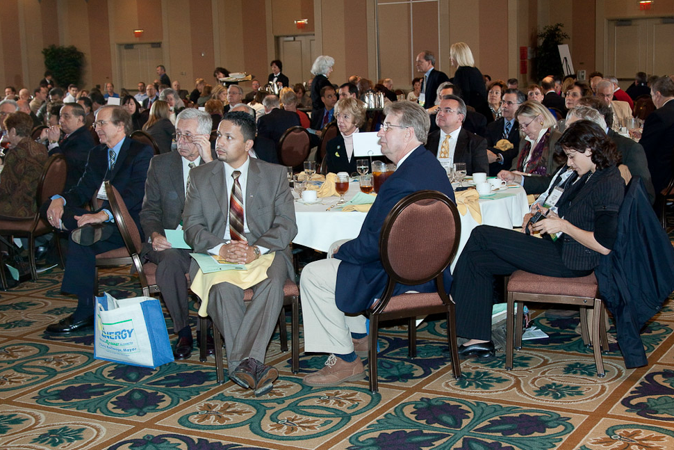 A capacity crowd enjoys the First Annual Sustainable Jersey Luncheon
