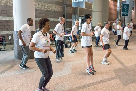 Mayors' Wellness Campaign's morning workout