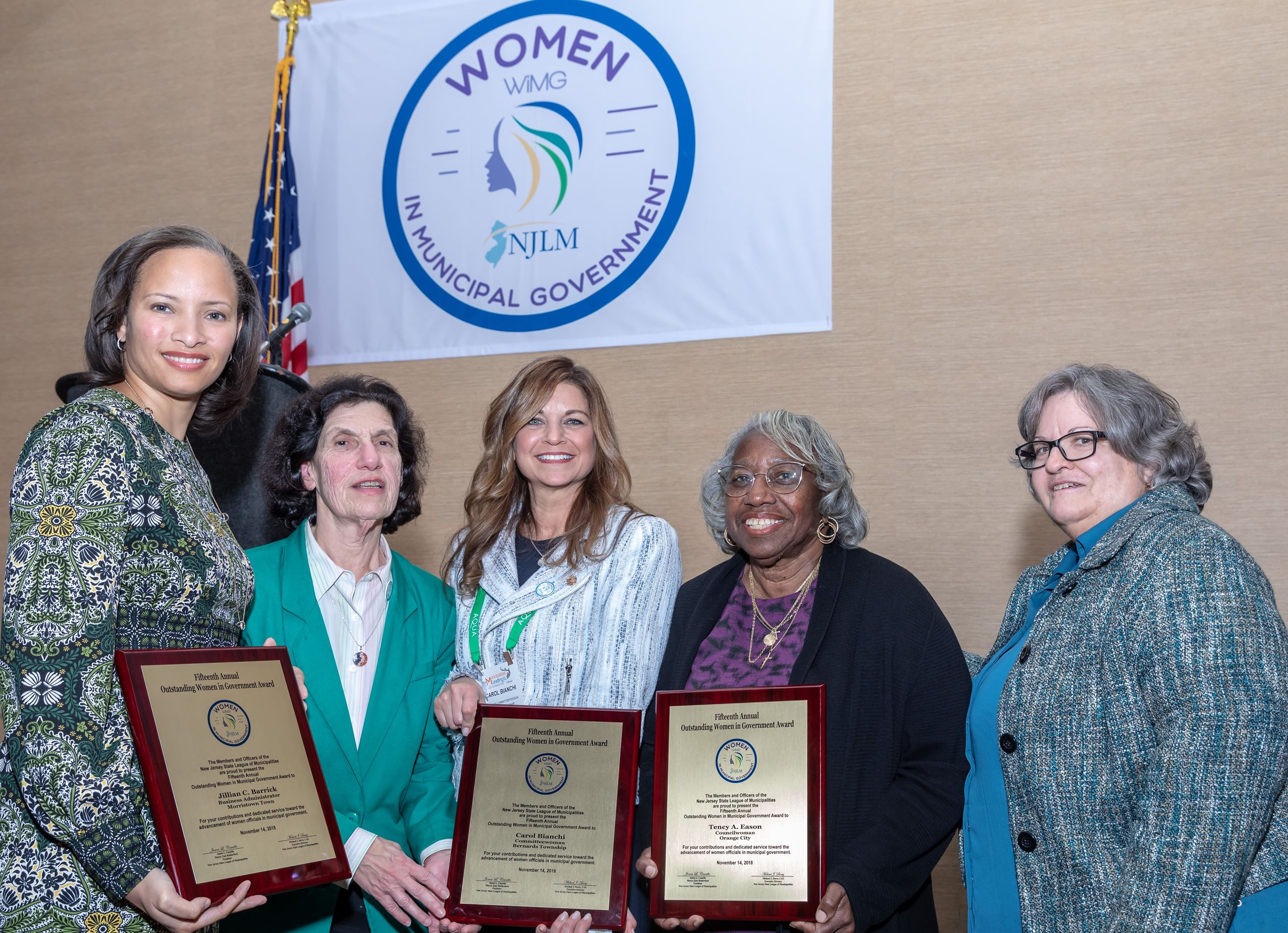WIMG's five 2018 Outstanding Women in Government Honorees