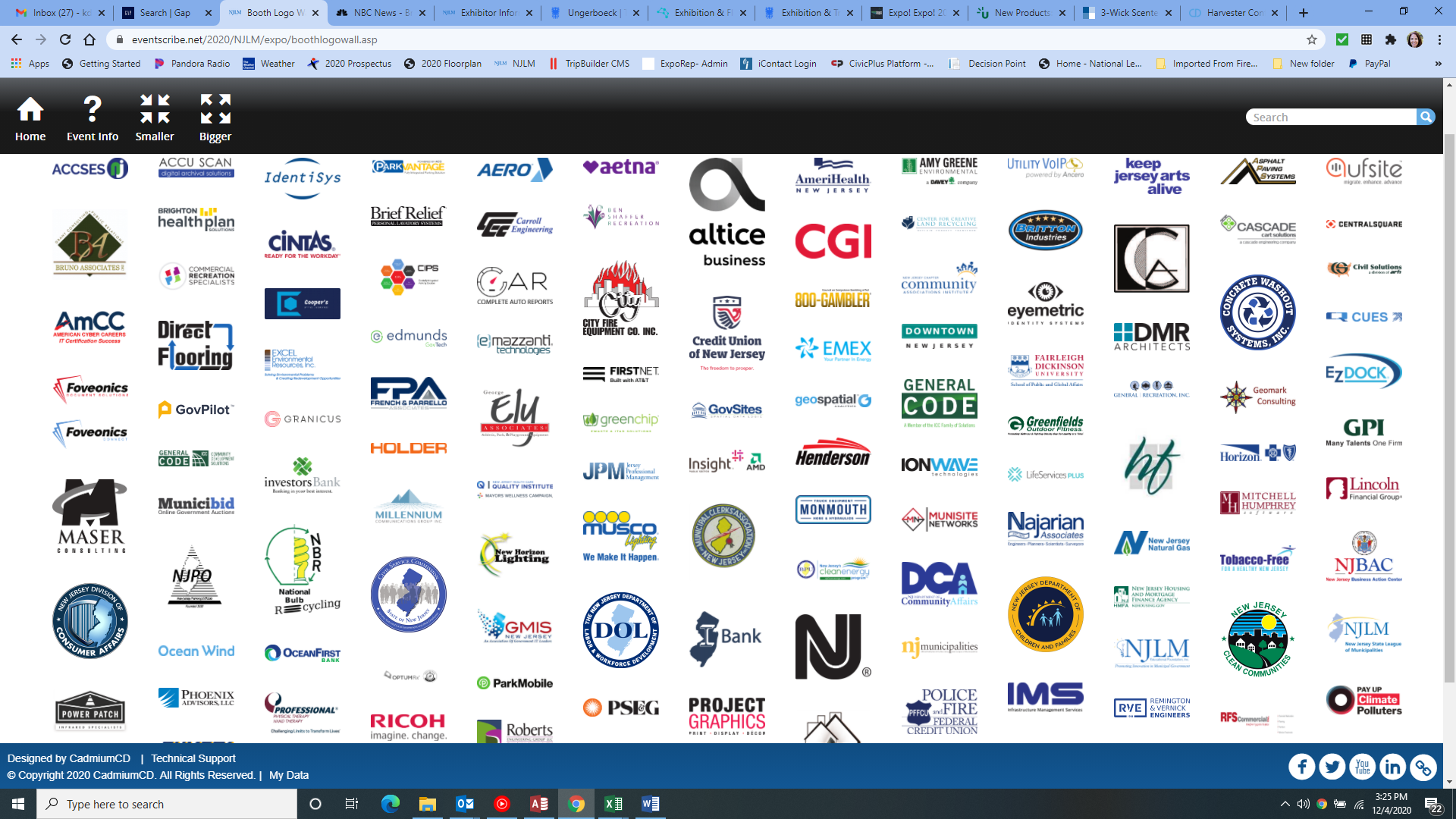 2020 League Conference Exhibitor Logo Wall